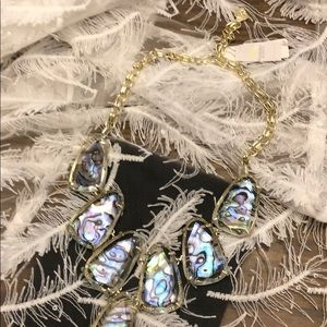 Kendra Scott Harlow gold-necklace abalone NWT's